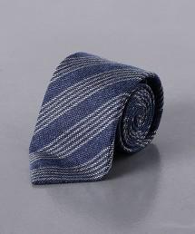 <ERRICO FORMICOLA> 蠶絲 麻 羊毛 直條紋 領帶