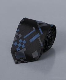 <FIORIO> 緞面 格紋領帶