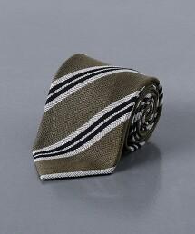 <NICKY> 毛圈紗布 人字呢 直條紋/領帶 義大利製