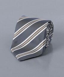 <UNITED ARROWS> 平織 英式條紋 直條紋 領帶 日本製
