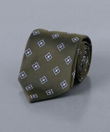 <UNITED ARROWS> 花朵 小紋 領帶 日本製