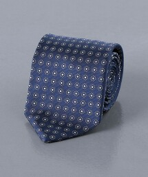 <UNITED ARROWS> 小紋 蠶絲 領帶 日本製