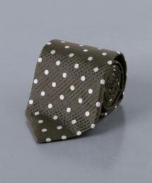 <UNITED ARROWS> 圓點 蠶絲 領帶 日本製