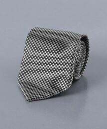<UNITED ARROWS> 緹花織 千鳥格花紋 領帶