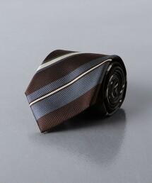 <UNITED ARROWS>複合 斜條紋領帶 日本製