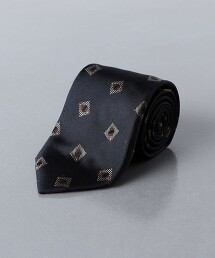 <UNITED ARROWS>緹花 小紋 領帶 日本製