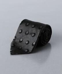 <UNITED ARROWS>緹花織 圓點 領帶 日本製