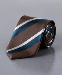 <UNITED ARROWS> 緹花 斜條紋 領帶