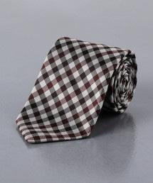 <UNITED ARROWS> 小方格格紋 領帶