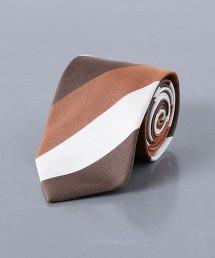 <UNITED ARROWS> 蠶絲混棉 寬斜條紋 領帶 日本製