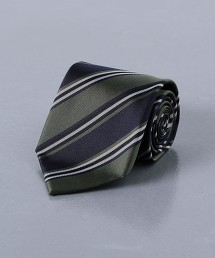 <UNITED ARROWS> 斜紋織 斜條紋領帶 日本製