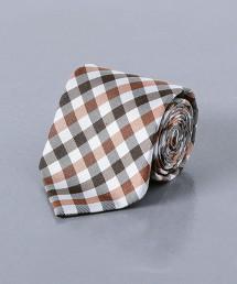 UADT IMP GNM CHK 小方格紋領帶 日本製