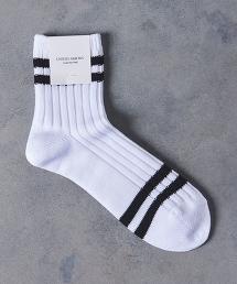 UASB 腳踝 線條 中筒襪