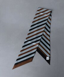 <Fratelli Luigi> 印花 直條紋披肩圍巾 義大利製