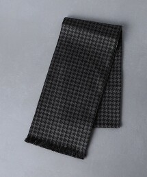 <Fratelli Luigi> 斜紋織 千鳥格花紋 披肩圍巾 義大利製