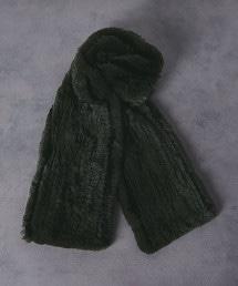 UAST仿皮毛線條圍巾