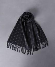 <UNITED ARROWS> 粉筆直條紋圍巾