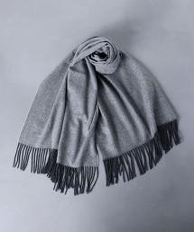 <UNITED ARROWS> 人字呢喀什米爾圍巾