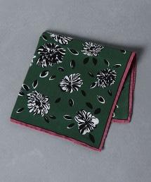 <Nicky> 花朵印花口袋巾 1