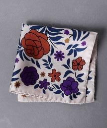 <Nicky> 花朵印花口袋巾1