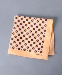 <Fratelli Luigi>  圈型花紋 口袋巾 45/45