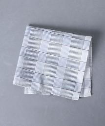 <Nicky> 棉 蠶絲 格紋口袋巾