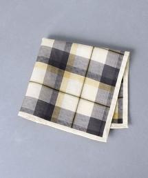 <Nicky> 亞麻 棉 格紋口袋巾