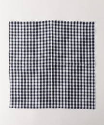 UDBS 亞麻大格紋口袋巾
