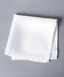 <UNITED ARROWS> 斜紋織 素色 方巾 日本製
