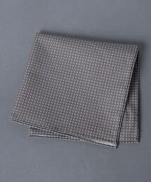 <UNITED ARROWS> 純棉 印花 橢圓 手帕 義大利製