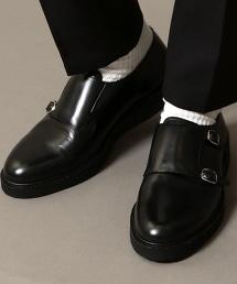 BY 雙環釦孟克鞋 避震鞋底 皮鞋