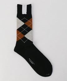 BY 菱形花紋襪子