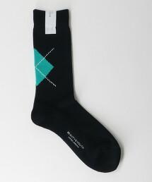 BY 阿蓋爾菱形花紋 中筒襪 日本製