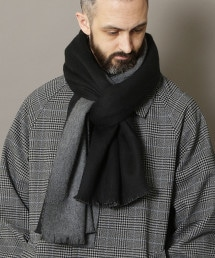 BY 正反兩用 喀什米爾 披肩圍巾