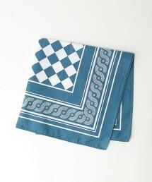 BY 幾何 印花 方巾 日本製