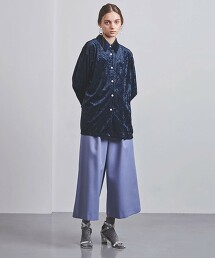 <UNITED ARROWS>PE 天鵝絨 標準領 襯衫 G 日本製
