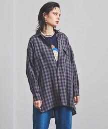 <TICCA>獵裝襯衫 細格紋襯衫 日本製