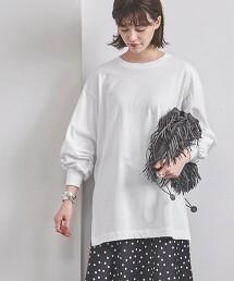 <UNITED ARROWS> 蓬鬆袖 圓領 T恤 W 日本製