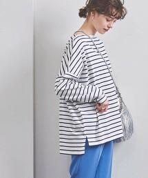 <WEB限定>UWSC 橫條紋 長袖上衣 日本製