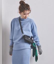 UWSC W 拼接 土耳其袖 高領針織毛衣