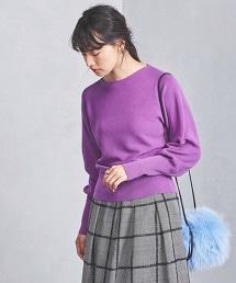 UBCS 畦編羊腿袖毛衣