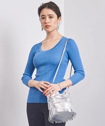 UBCB 蠶絲羅紋 7分袖針織上衣 19SS