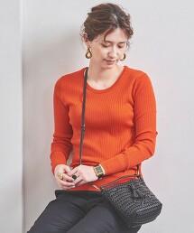 UWSC 純羊毛 羅紋 圓領針織衫