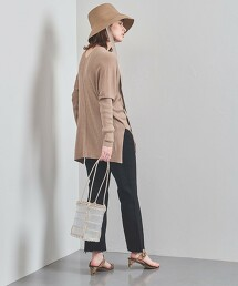UBC 斗篷風 羅紋 V領針織衫