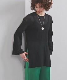 UWFM 透膚 側開衩 中長版上衣