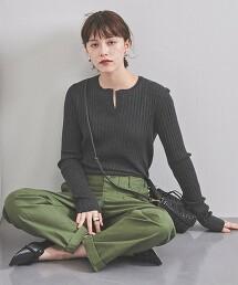 UBCB 羅紋 開衩領 針織衫†