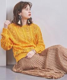 UWSC 鏤空麻花圓領針織衫