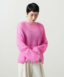 <UNITED ARROWS>透膚 馬海毛針織衫 W † 日本製