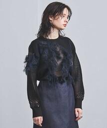 UGMSC 花朵 緹花針織毛衣 日本製