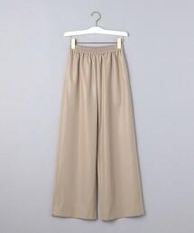 <UNITED ARROWS>仿皮革 輕便褲 W